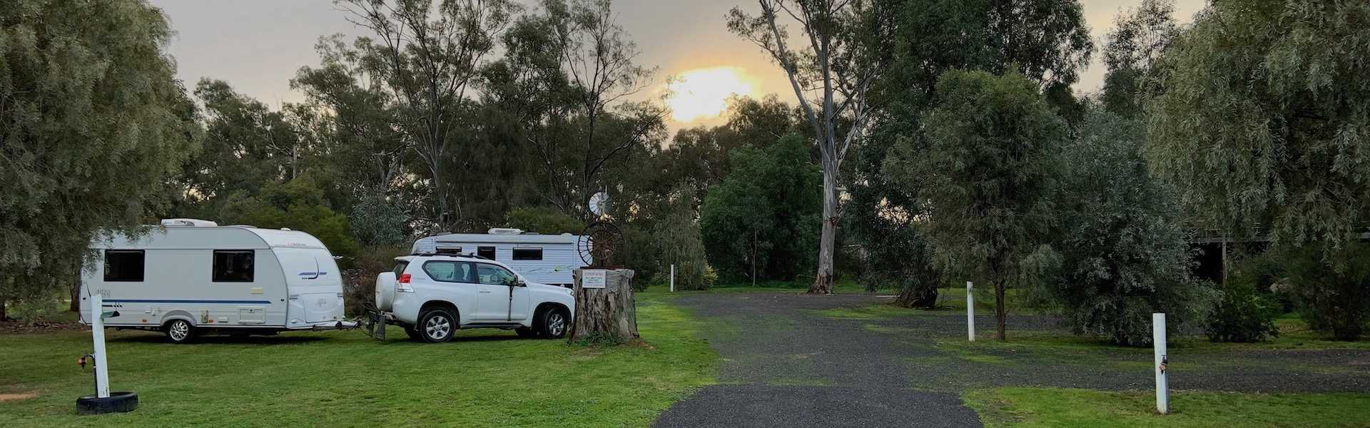 Kui Parks, Travellers Rest Caravan Park, Charlton VIC