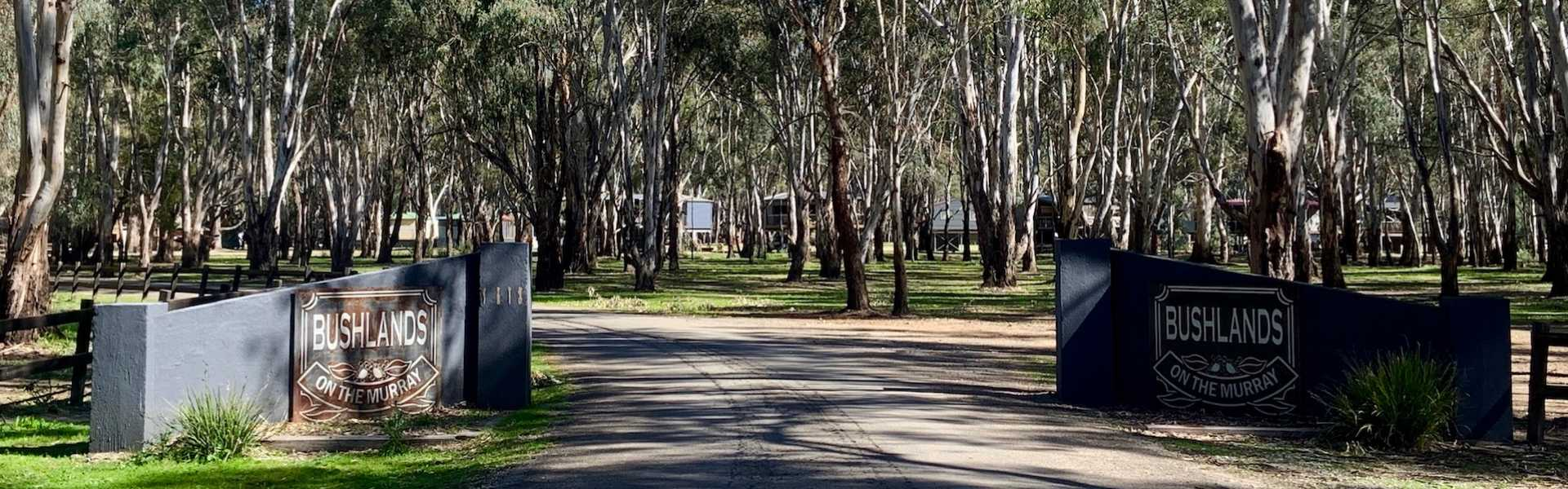 Kui Parks, Bushland on the Murray Holiday Park, Entrance
