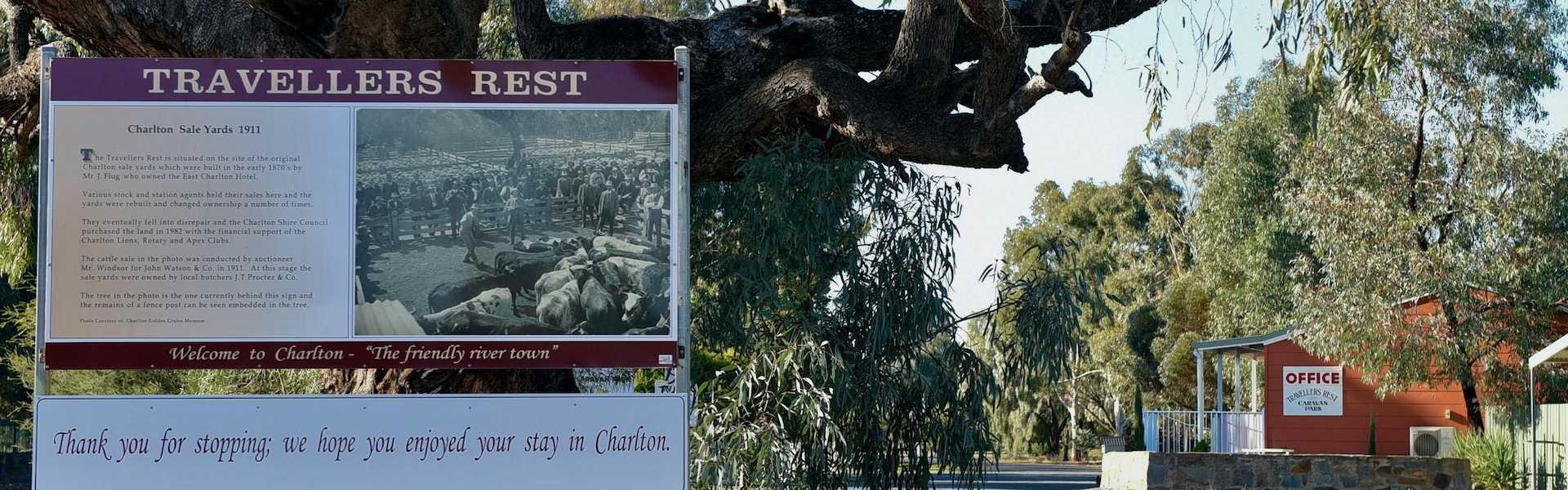 kui parks, charlton, travellers rest, caravan park, entrance
