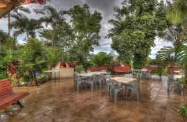 Kui Parks, Tropical Hibiscus Caravan Park, Mission Beach, Pizza Oven & Decking