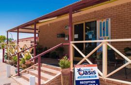 Kui Parks, Outback Oasis Caravan Park, Carnarvon, Office