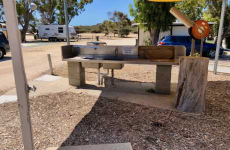Kui Parks, Green Head Caravan Park, Fish Cleaning Station, Green Head WA