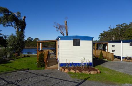 Kui Parks, Smithton, River Breeze Caravan & Cabin Park, Cabins