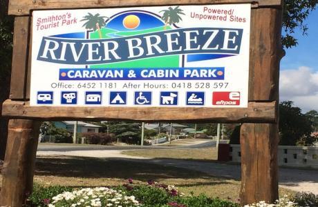 Kui Parks, Smithton, River Breeze Caravan & Cabin Park, Signage